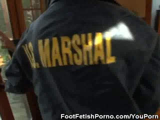 Fake Babe Marshalls With Foot Fetish