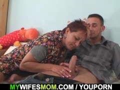 Picture Cock hungry mom in law seduces and rides him