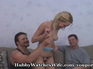 Hubby Excited To See Wife Fucked