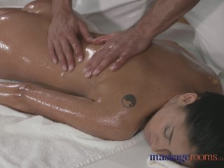 Massage Rooms Tanned beauty takes every inch of her masseurs fat cock