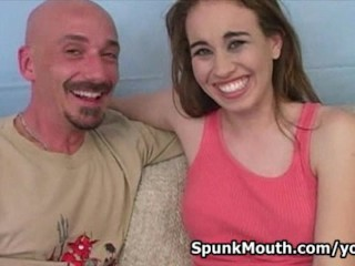 Real Amateur Hottie Ruby Marie Pounded hard by a Big Cock for a Spunkmouth