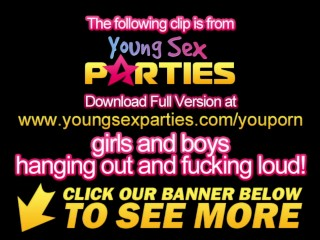 Young Sex Parties - Team-fuck with anal and facial