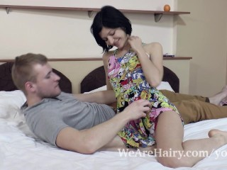 Efina plays with vibe and is fucked hard by lover