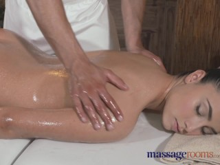 Massage Rooms Teen lesbians use expert tongue action on each others clit