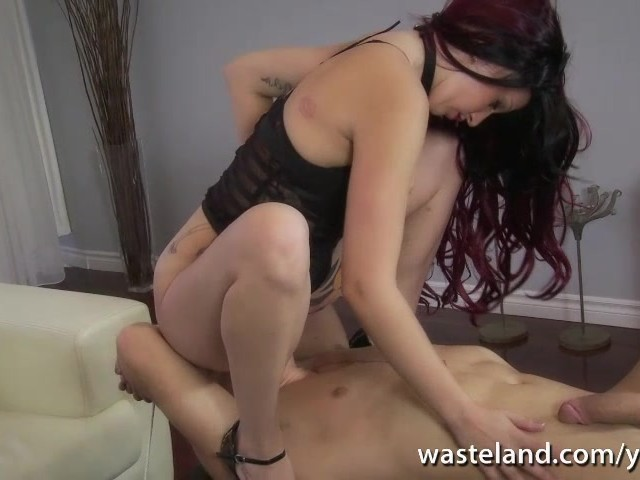 Mistress Face Fucks Slave