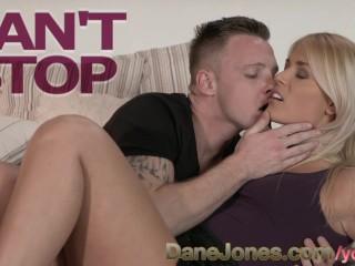 DaneJones Incredibly beautiful blonde enjoys deep romantic fuck