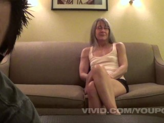 Phil Varone fucks a horny senior swinger and cums all over her