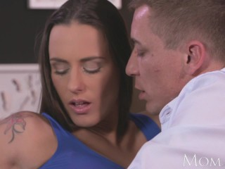 MOM Sexy brunette has multiple orgasms from licking and fucking