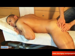 Farid a very sexy masculine arab guy gets wanked his huge cock by a guy!-