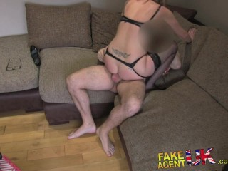 FakeAgentUK Hot blonde mom takes it from behind in casting