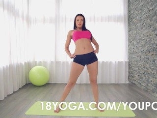 Busty Teen Kitana Lure Ass Fucked During Yoga Session and Creampied