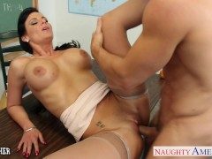 Picture Chesty teacher Phoenix Marie take cock in cl...