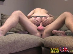 Picture FakeAgentUK Sexy amateur gets sweet anal act...
