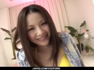 Rika Koizumi perky tits babe sucks cock and fucks until exhaustion