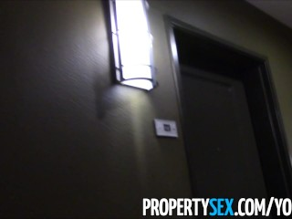 PropertySex - Pervert with camera tricks younger realtor into making homemade sex video