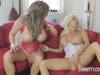 Eva Notty and Tara Holiday fuck the cable guy