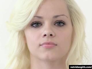 Teen first-timer turns into a full blown slut at her Calendar Audition