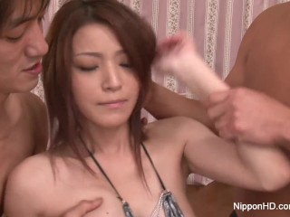 Asian hottie gets her pussy creamed