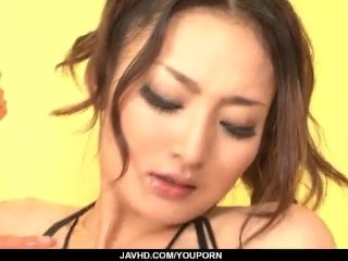 Strong masturbation show for hotRisa Murakami