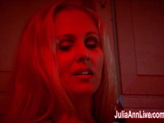 Sexy Milf Julia Ann Sucks Dick While Smoking Cigarettes!