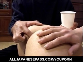 Yuki Mori is fucked with sex toys in asshole and cunt same time