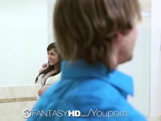 FantasyHD - Chloe Amour has sex with a stranger in a public bathroom