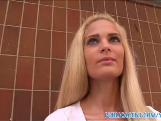 PublicAgent Hot Blonde with fine ass fucked in underground car park