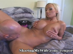 Picture Tasty Blonde Gets Drilled As Hubby Watches