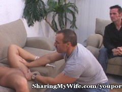 Picture Hubby And Wife Cum Over For A Surprise