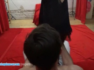 Hot asian chick lapdances and rides on hard cockh