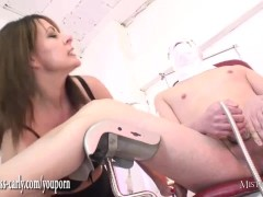 Picture Busty nurse Mistress fits spunk pump to slav...