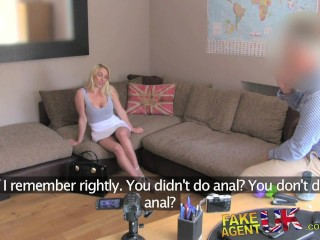 FakeAgentUK Hot blonde gets double dipping into pussy and ass in casting