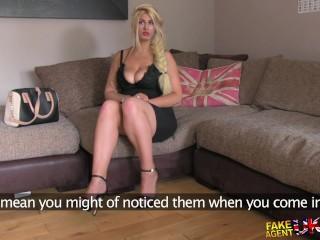 FakeAgentUK Blonde wannabe loves sucking and fucking agents cock