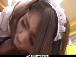 Nao Kojima JAV maid bangs along with her grasp