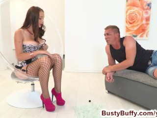 Busty Buffy plays hardcore chess and loses