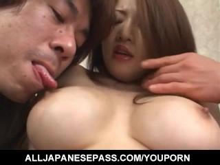Yuki Touma with big boobs has crack fucked after licking dicks