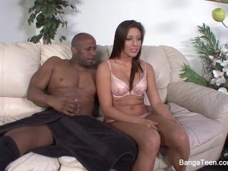 Hot wet slut Rilynn Rae gets an interracial fuck & a facial