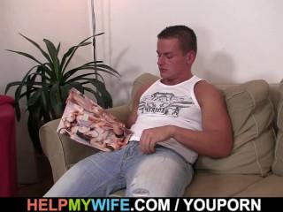 Husband friend bangs his hot wife
