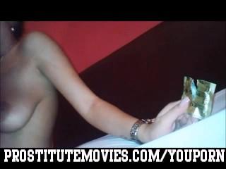 Teen hooker Blowjob with condom