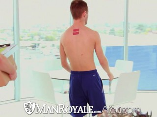 ManRoyale - Archer tests his new dildo with the delivery guy