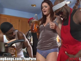 Cici Rhodes gets Anal Creampie and 3 BBCs