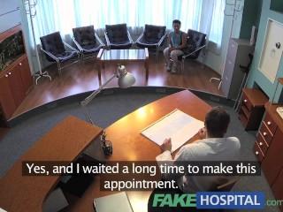Uniform/too nurse overhears doctor fucking