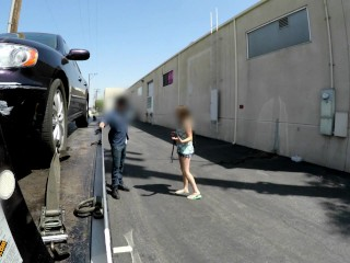 Bad Tow Truck - Ginger teen gets tow truck facial