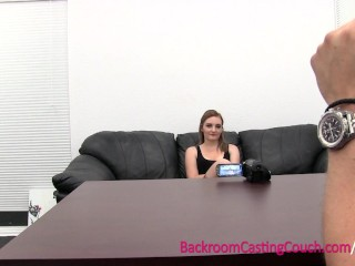 18 Teen Anal Lover Ass Fucked on Casting Couch