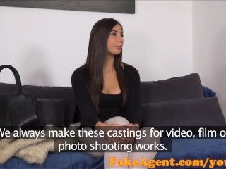 FakeAgent Sexy amateur gets surprised by Halloween costume in casting