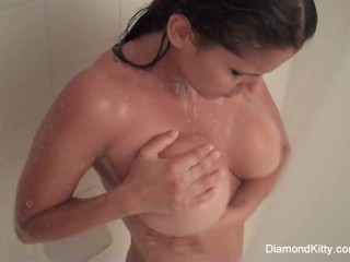 Naughty In The Shower With Diamond Kitty