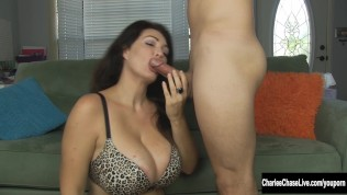 Watch Cocksucker Charlee Chase In Action