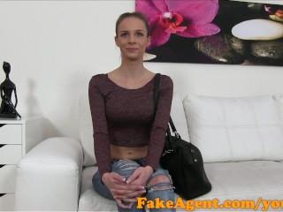FakeAgent Skinny Austrian babe fucks her casting agent