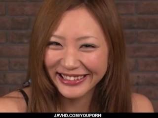 Mio Kuraki, curvy ass babe, goes wild on cock