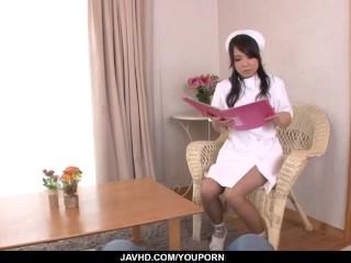 Miho Tsujii amazes with full Asian nurse POV oral